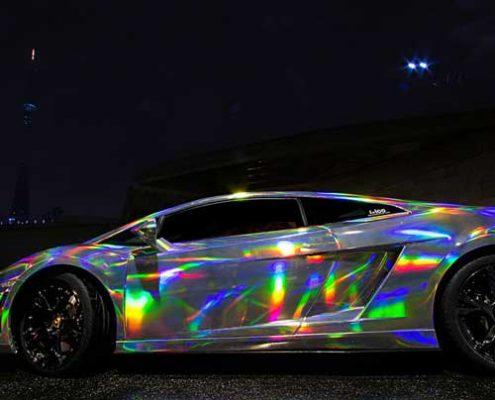 sliver holographic car sticker