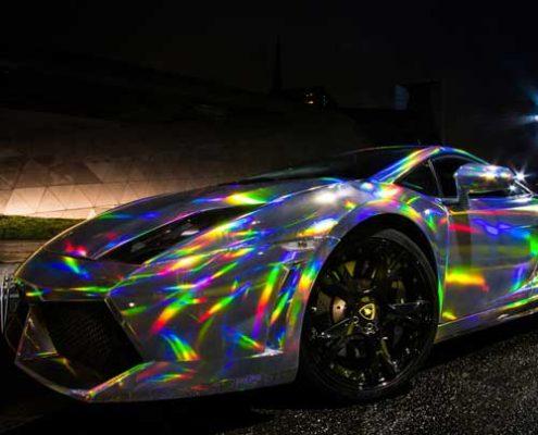 sliver holographic vinyl wrap film