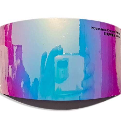 Rainbow Chrome White shift color wrap RC800
