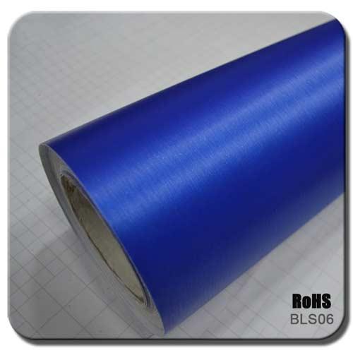 blue brushed car wraps BLS06