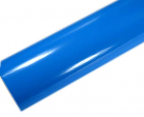 sky blue glossy car wraps